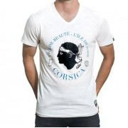 COPA Football - Corsica Vintage V-Neck T-Shirt - Wit
