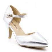 Belle Gambe Women Silver Heels