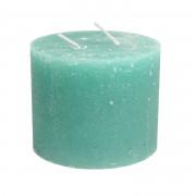 Dille&Kamille Bougie bloc, vert d'eau, 12 x 10 cm