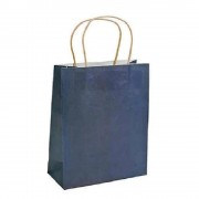 Pungi Cadou cu Model Albastru Inchis 18x8.59x29 cm, 100 Buc/Bax, Sacose si Plase din Hartie