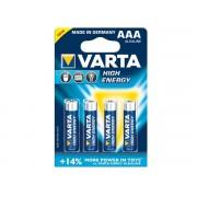 Varta High Energy AAA Alkaline batterijen (4stuks)