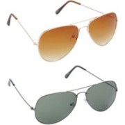 Whay Aviator Sunglasses(Multicolor)