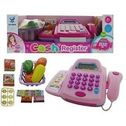 Shribossji Supermarket Cash Register Scanner Play Set Item Shopping Cart Money Coin