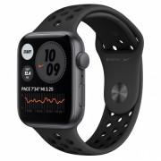Smartwatch Apple Watch Nike SE GPS, 44mm, Carcasa Space Gray Aluminium, Bratara Anthracite/Black Nike Sport Band