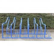 Fahrradständer mit Anlehnbügel 6 Einstellplätze farbig beschichtet