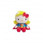 Jemini Hello Kitty Knuffel Super Woman meisjes geel/rood 17 cm