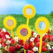 12 sperietori pasari in forma de floarea soarelui