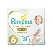 Pampers Premium Care Value Pack, pelene-gaćice, 6, 31 db
