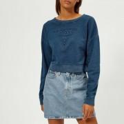 Guess Women's Indigo Fleece - Indigo Blue - XS - Blue