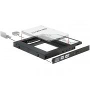 Beépítő keret, 2,5-os SATA SSD/HDD-hez, 12,5 mm-ig, DELOCK (DL61993)