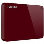 Toshiba 1 TB External Portable Hard Drive Canvio Advance USB 3.0 Red