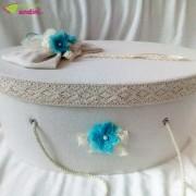 Cutie Trusou Botez Delicate Azur