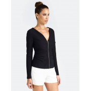 Guess Marciano Top Met Rits - Zwart - Size: Large