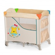 Pat bebelusi Sleep'n Care Pooh Ready To Play, spatiu depozitare, margini moi, maxim 9 Kg