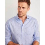 Boden Blautöne/Bunt, Getupft Hemd aus gebürsteter Baumwolle Herren Boden, M, Blue
