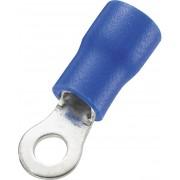 Papuc cu inel, sectiune: 1,5 - 2,5 mm², albastru, AWG 16 - 14, M3, 50 bucati