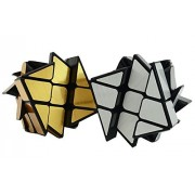 AIRCEE Yongjun YJ 3x3x3 Mirror Wheel Cube Windmill Puzzle Set Of 2 Cubes (Silver And Gold)