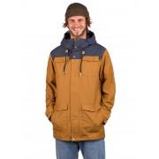 Tentree Destination Mountain Jacket : rubber brown/dark ocean - Size: Extra Large