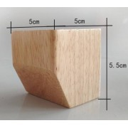 4PCS/LOT Square Solid Wood Foot TV Cabinet Bed Legs Foot
