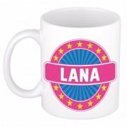 Shoppartners Namen koffiemok / theebeker Lana 300 ml
