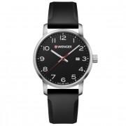 Wenger Avenue Reloj de cuarzo acero inoxidable black-white-black