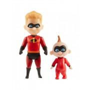 Set 2 figurine Dash si Jack-Jack, 10 cm, Incredibles 2 JKINC74809
