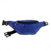 Moda West Glitter Fanny Pack Bag Blue