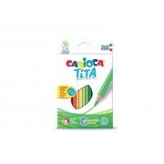 Creioane colorate, hexagonale, 18 culori/cutie, CARIOCA Tita