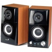 Boxe Genius SP-HF500A, 2.0, 14W RMS, Black & Cherry Wood