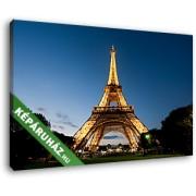 A kivilágított Eiffel-torony alulnézetből (40x25 cm, Vászonkép )