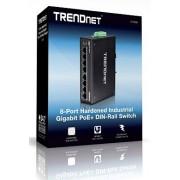 Trendnet TI-PG80 8-port hardened Industrial Gigabit PoE+ Switch