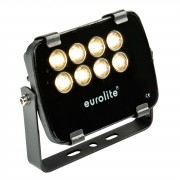 EuroLite LED IP FL-8 3000K 30° IP 56, 8x1W Garden Light