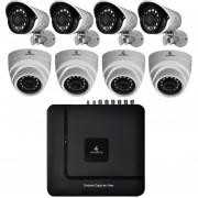 Kit Cctv Video Vigilancia 8 Cámaras Ahd Alta Definición 720p Dvr Seguridad Circuito Cerrado