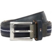 Tommy Hilfiger Men Casual Blue Genuine Leather, Fabric Belt