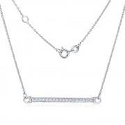 Silvego Stříbrný náhrdelník VARSAMIA se zirkonovým přívěskem - ZTJNF61006