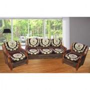 JBG Home Store Luxury Brown Sofa Cover Set ( Set of 10)