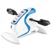 KLARFIT Cycloony MiniBike, тренажор за ръце и крака мотор, 120кг, дистанционно управление, бял/син (FIT18-CYCLOONY-WH)