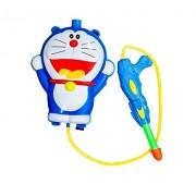 RIANZ Cartoon Character Figure Backpack Water Gun Holi Pressure Water Gun Pichkari Tank Summer Beach Water Blaster Baby Toys Shooting Spray, Color May Vary (Dore Figure)