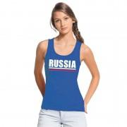 Bellatio Decorations Blauw Rusland supporter singlet shirt/ tanktop dames