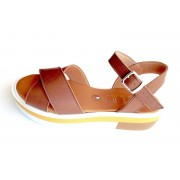 ESTRO Made in Italy Estro Sandalo Fusbet Intrecciato - Cuoio - M-B74-19 Made In Italy