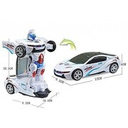 barodian's Deform Robot Sports Car Toy with Convertible Robot with Lights, Music & Bump & Go Function for Kids,