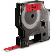 Dymo Standard D1 Tejp 9mm Svart på rött