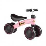 Ride On Mini Trike with Easy Grip Handles, Enclosed Wheels and No Pedals for Learning to Walk for Baby, Toddlers, Boys and Girls by Lil' Rider (Pink)