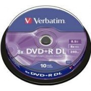Verbatim DVD+R Verbatim 8.5GB 8X 10-pack Double Layer, Spindel