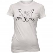 Womens Slogan Collection Camiseta Check Meowt - Mujer - Blanco - S - Blanco