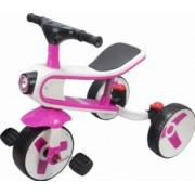 Tricicleta-bicicleta Action Smart Kid 3 in 1 cu lumini si sunete roz