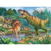 Puzzle Ravensburger - World of Dinosaurs, 100 piese XXL (13695)