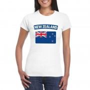 Shoppartners Nieuw Zeelandse vlag shirt wit dames