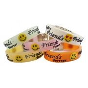 eshoppee Designer Best Friend/ Friend Forever Bracelet Wrist Band with Skull Tags for Man Women Set of 5pcs Men's Bracelet Friendship Day Gift/ Wrist Band Bracelet