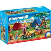 Loc de Tabara cu Led de Foc Playmobil